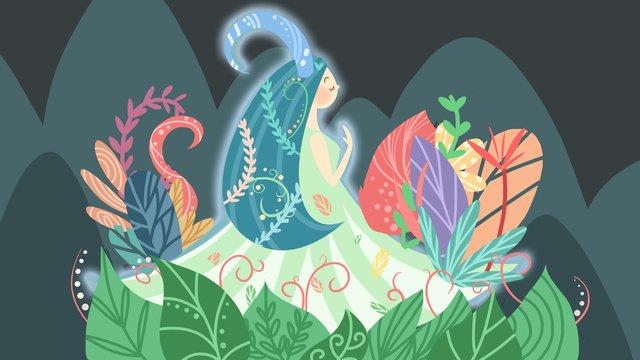 twelve constellations of fresh girl aries llustration image illustration image