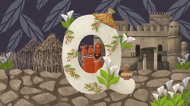 qレターエチオピア イラスト素材 イラスト画像