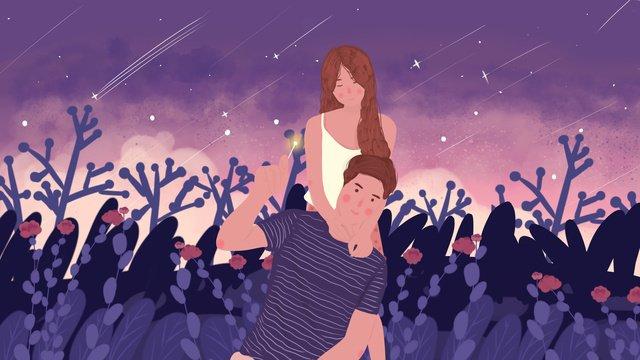 couples everyday cute little fresh love llustration image illustration image