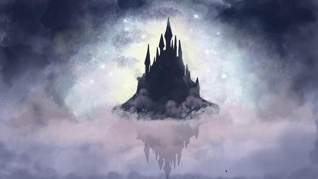 Sleeping wonderland castle llustration image
