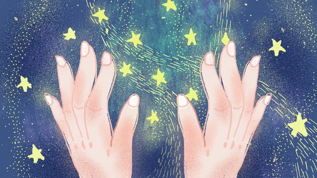 Healing dream starry sky original illustration, Cure, Dream, Starry Sky illustration image