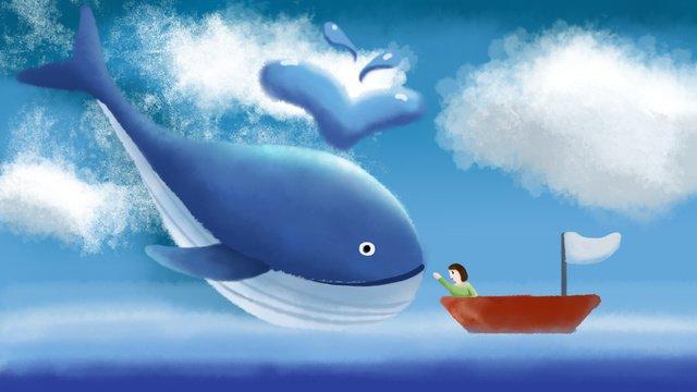 cure illustration Little whale whale, Fish, Illustration, Sea illustration image