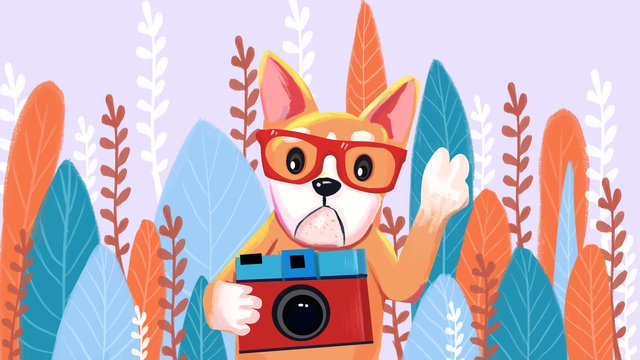 Симпатичные домашние животные свежие и милые иллюстрации собак Ресурсы иллюстрации Иллюстрация изображения