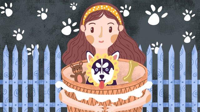 Мэн pet серии я встретил с собаками Ресурсы иллюстрации Иллюстрация изображения