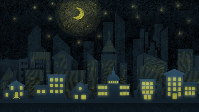 midnight city good night starry moon llustration image illustration image