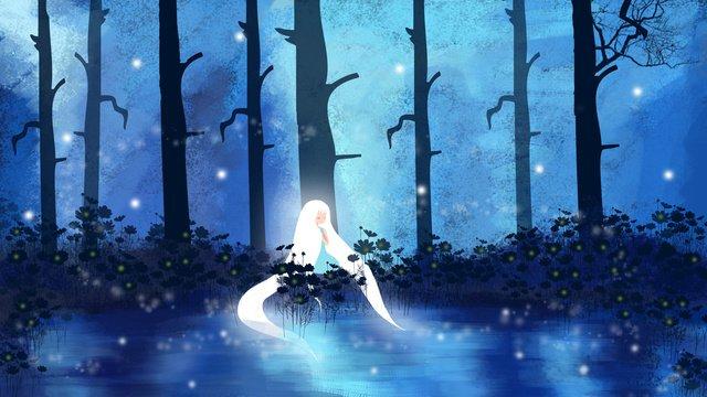 forest fairy wandering wonderland goodnight healing Đẹp Hình minh họa Hình minh họa