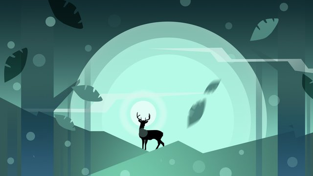 Minh họa rừng của deerHươu  Rừng  Chữa PNG Và PSD illustration image