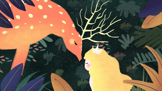 Deer and forest dream cure illustration llustration image illustration image