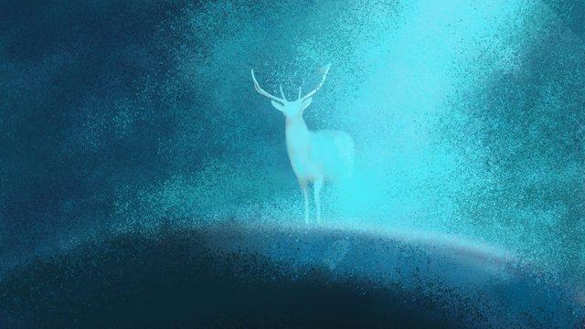 Original healing system, Deer, Healing, Dream illustration image