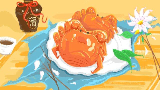 Health food original illustration, Delicious, Food, Nutrition illustration image