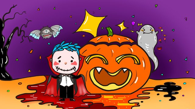 original little devil halloween carnival night llustration image illustration image