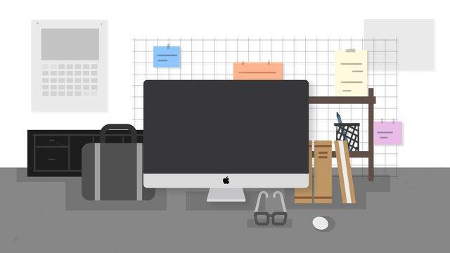 Простой скандинавский Баухауз workbench Ресурсы иллюстрации Иллюстрация изображения