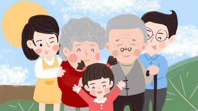 Оригинальная иллюстрация jiujiu chongyang festival забота о пожилых Ресурсы иллюстрации Иллюстрация изображения