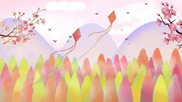 崇陽祭り、源山、凧、美しい手描きイラスト イラスト素材 イラスト画像