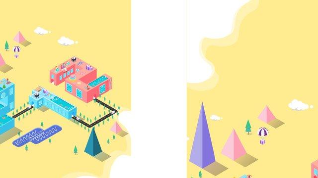 小さな新鮮な黄色の二重12 2 5 dイラスト イラストレーション画像