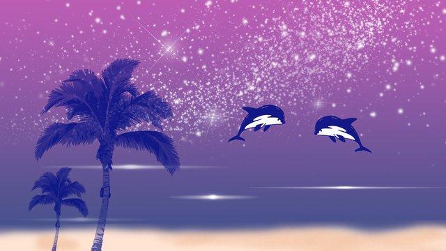 夢幻鯨魚 插畫素材 插畫圖片