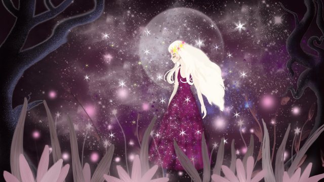 Healing dream starry sky, Dream, Starry Sky, Cure illustration image