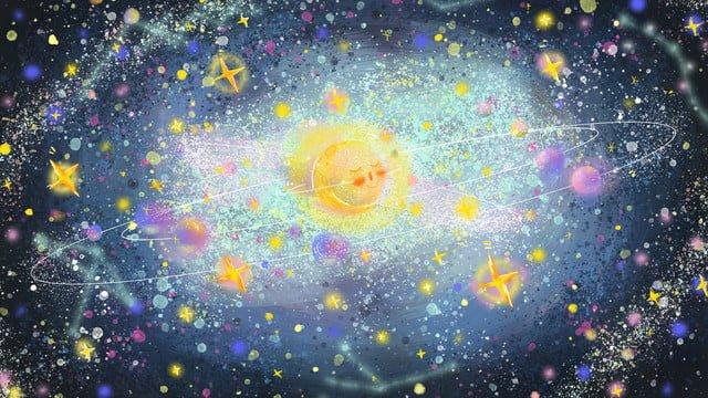 fantasy starry glittering cosmic galaxy graffiti llustration image