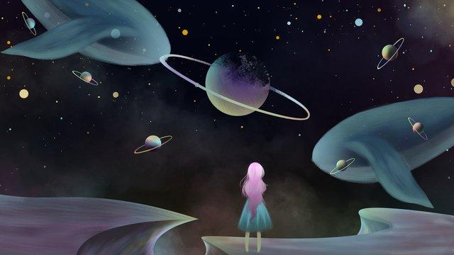 fantasy starry universe cosmic technology illustration poster llustration image illustration image