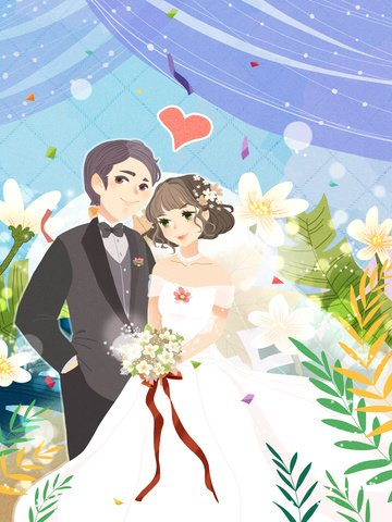 dream wedding romantic men and women llustration image illustration image