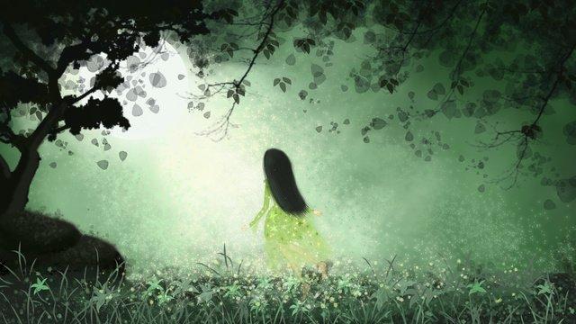 Лунатизм Цветочная фея чудес Ресурсы иллюстрации Иллюстрация изображения