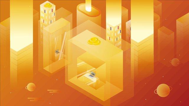 English letter i business office warm tone vector illustration 2.5d, English Alphabet, I, Warm Tone illustration image