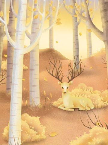 bản vẽ tay ban đầu tháng 11 hello birch grove Hình minh họa