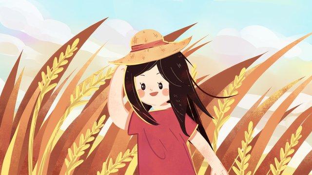 autumn hello fall to wheat harvest hand drawn illustration llustration image illustration image