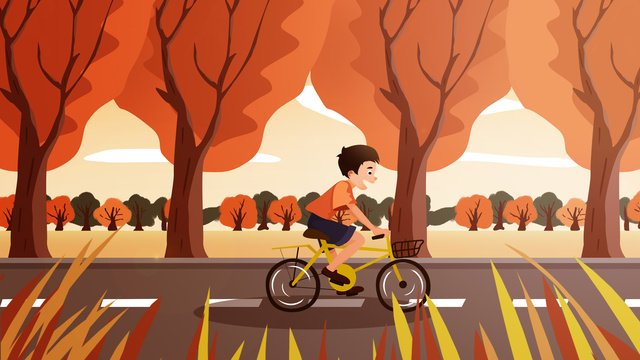 fall Autumnal beginning of autumn Solar terms, Cycling, Festival, Illustration illustration image