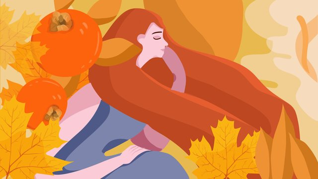 Hello golden autumn fresh and beautiful illustration, Fall, Orange, Beautiful illustration image