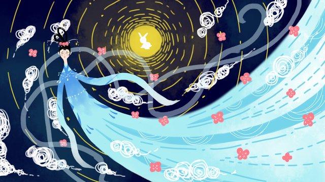 small fresh traditional festival mid autumn llustration image illustration image