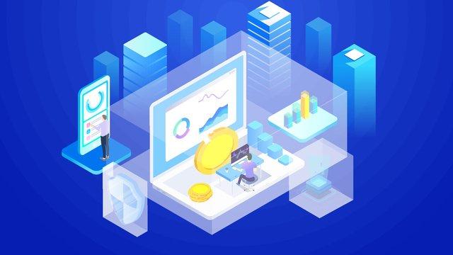 Финансовый Биткойн Блокчейн Капитал Бизнес Офис breathable 25d Ресурсы иллюстрации