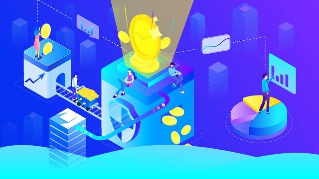 financial blockchain bitcoin timing mobile office 25d imej keterlaluan imej ilustrasi