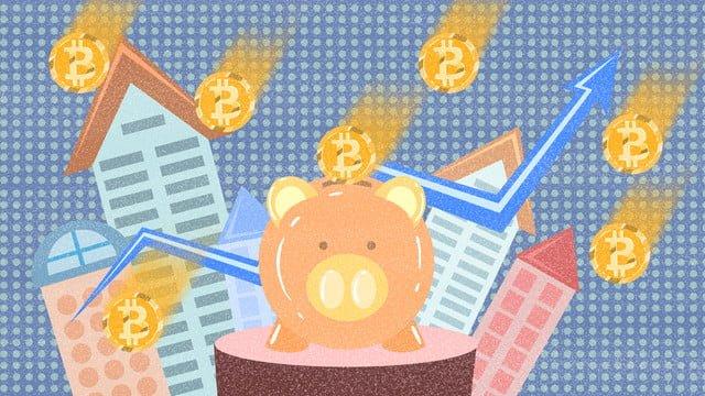 bitcoin finanziario Immagine dell'illustrazione