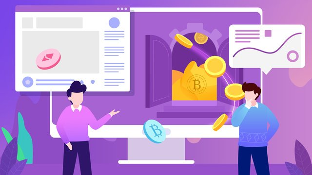 bitcoin flat pembiayaan perniagaan imej keterlaluan imej ilustrasi