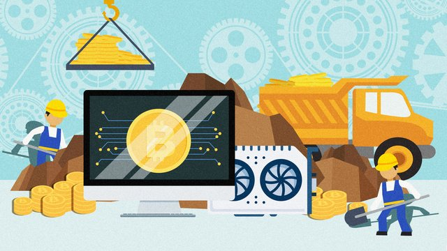Flat financial business bitcoin illustration, Flat Financial Illustration, Flat Bitcoin Illustration, Bitcoin Illustration illustration image