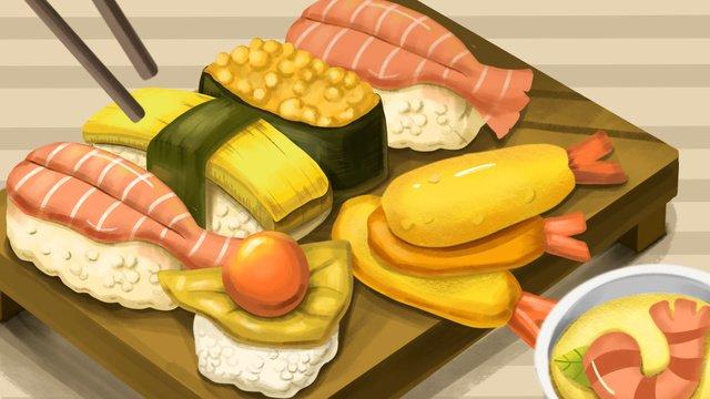 gourmet sushi đĩa Hình minh họa Hình minh họa