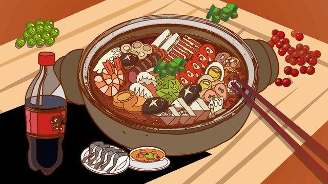 Карикатура для гурманов Ресурсы иллюстрации Иллюстрация изображения