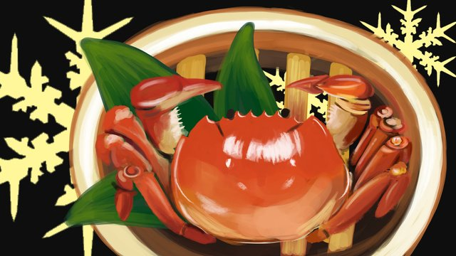 Gourmet hairy crab, Food, Crab, Hairy Crab illustration image