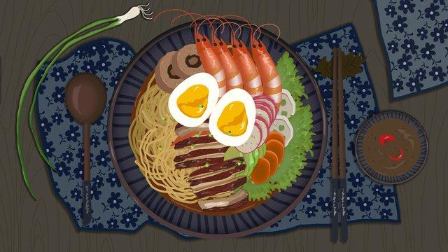 繊細でリアルな麺グルメイラストレーション イラストレーション画像 イラスト画像