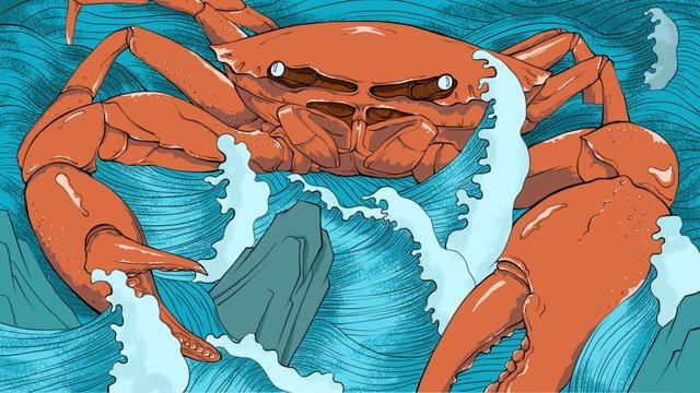グルメ獣毛蟹のクリエイティブイラスト イラスト素材 イラスト画像