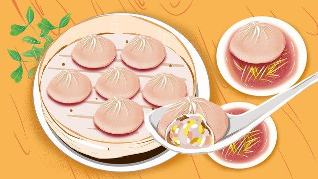 Wuhan gourmet soup bag illustration llustration image illustration image