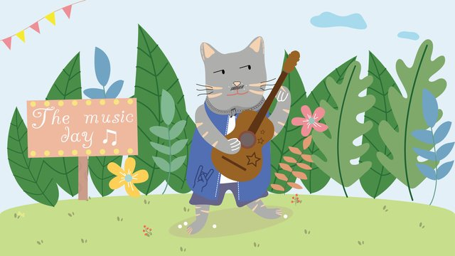 Fresco divertido literário cartoon concerto de animaisFresco  Literário  Divertido PNG E Vetor illustration image
