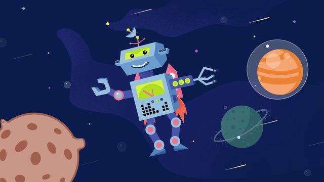 future technology Technology Artificial intelligent, Space, Planet, Adventure illustration image