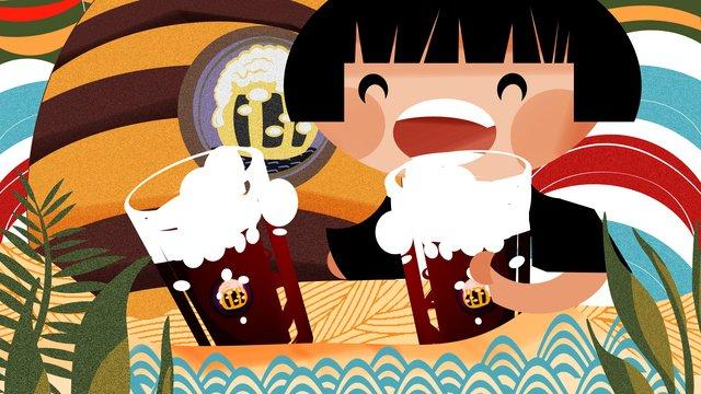German oktoberfest celebrates drinking illustration llustration image illustration image