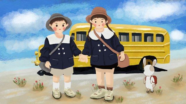 september school season llustration image illustration image