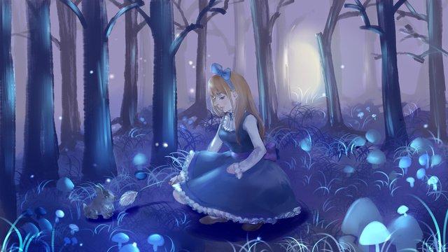 夢遊病の妖精治療イラストの女の子 イラスト素材