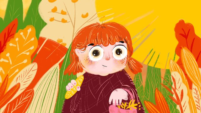 こんにちは秋の少女治療イラスト イラスト素材