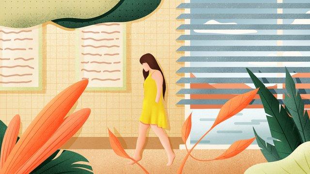 good morning hello hand drawn poster illustration wallpaper llustration image illustration image