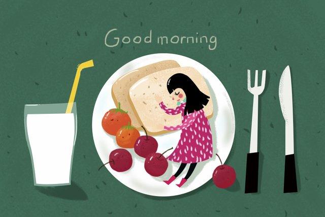 good morning breakfast cure fresh illustration llustration image